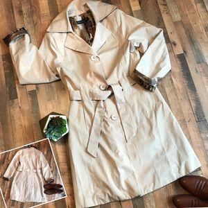 Dana Buchman Rain Trench Coat Jacket
